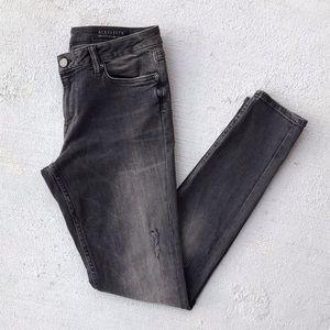 All Saints Mast Damaged Distressed Skinny Jeans